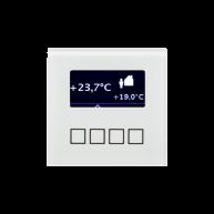 MDT Ruimtetemperatuur regelaar FM glas wit instelbaar