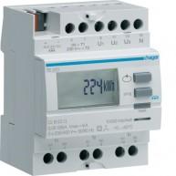 Hager KNX kWh-meter 3-fasen voor stroomtrafo 5/6000 A 1 tarief