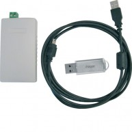 Hager KNX/USB-interface met domovea softwaresuite op USB-stick