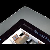 "ThinKnx Donker grijze lijst voor Envision Touch Server 10"""
