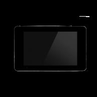 Touch-pc 19 inch zwart glas extra brede rand inbouw