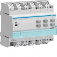 Hager KNX schakelactor 6-voudig 16 A capacitief met stroommeting