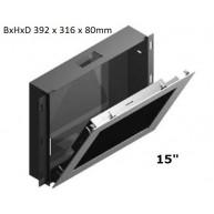 "Inbouwdoos RVS t.b.v. Touch PC 15"" WMK-03-PPC155-IRU"