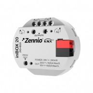 Zennio inBOX 20 inbouwactor 2 uitgangen 16A