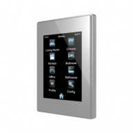 Zennio Z41 Pro zilver met app - kunststof frame