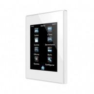 Zennio Z41 Lite wit - kunststof frame