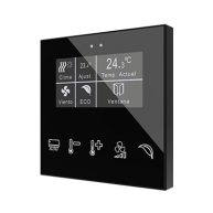 Zennio Flat Display capacitieve schakelaar met display (custom)