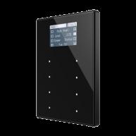 Zennio TMD Display View met kunststof frame - zwart