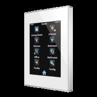 Zennio Z41 Lite wit - aluminium frame