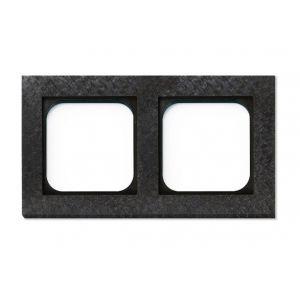 Basalte Frame - 2 gang - fer forgé gunmetal