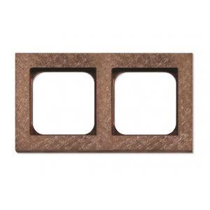 Basalte Frame - 2 gang - fer forgé rosé