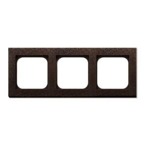 Basalte Frame - 3 gang - fer forgé bronze