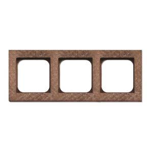 Basalte Frame - 3 gang - fer forgé rosé