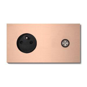 Basalte Socket - Afdekraam tweevoudig met CAI - rosé