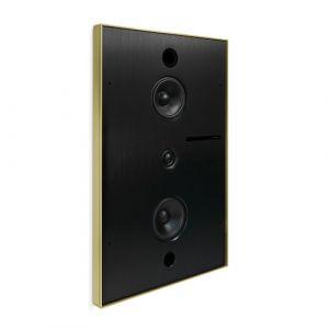 Basalte Aalto D3n - in-wall active network speaker - brushed brass