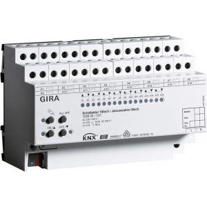 Gira KNX Schakelactor zestienvoudig 16 A/ Jaloezieactor achtvoudig 16 A met handbediening