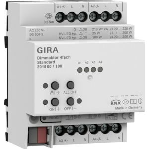 Gira KNX dimactor 4-voudig standard 4 x 225 W/VA