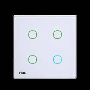 HDL iTouch aanraakpaneel 4 toetsen - wit glas