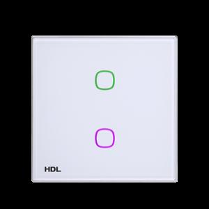 HDL iTouch aanraakpaneel 2 toetsen - wit glas
