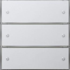Gira Tastsensor 3 Comfort drievoudig zuiver wit glanzend F100