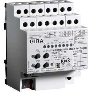 Gira KNX verwarmingsactor 6-voudig met regelaar