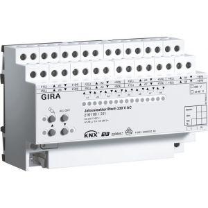 Gira KNX jaloezieactor achtvoudig 230 V AC / 12-48 V DC met handbediening