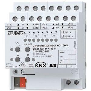 Jung KNX jaloezieactor 4x230VAC/2x24VDC