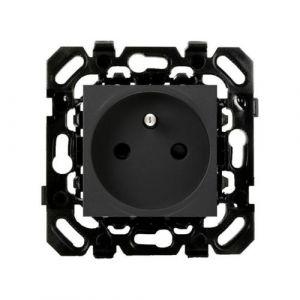 Basalte Socket - Wandcontactdoos met pen-aarde - zwart
