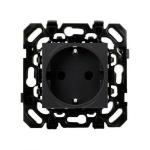 Basalte Socket - Wandcontactdoos met randaarde - zwart