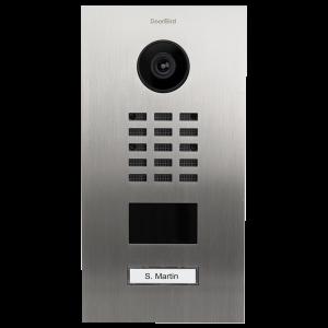Doorbird Intercom inbouw D2101V RVS - 1 beldrukker