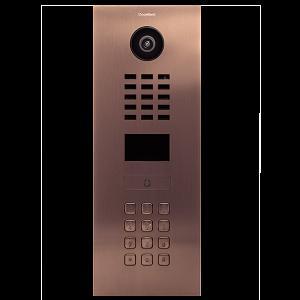 Doorbird Intercom inbouw Brons - 1 beldrukker en codepaneel