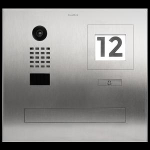Doorbird Intercom inbouw met brievenbus geborsteld RVS - 1 beldrukker, info module