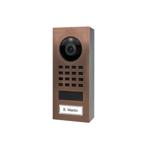 DoorBird IP Video Intercom D1101V geborsteld brons opbouw