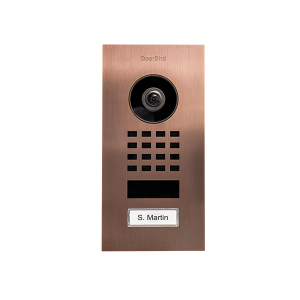 DoorBird IP Video Intercom D1101V geborsteld brons inbouw