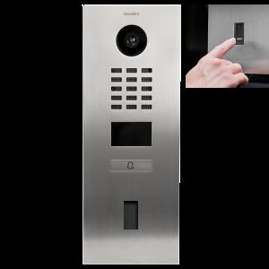 Doorbird Intercom inbouw RVS - 1 beldrukker - Ekey vingerscanner