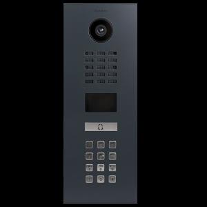 Doorbird Intercom inbouw geborsteld Antraciet - 1 beldrukker en codepaneel