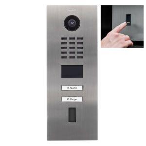 Doorbird Intercom D2102FV RVS zoutwater bestendig - 2 beldrukkers - Ekey vingerscanner