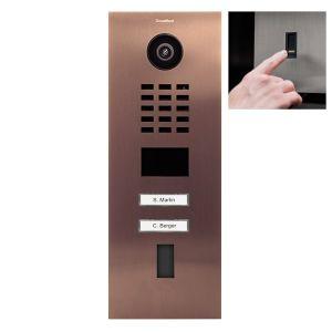 Doorbird Intercom D2102FV brons - 2 beldrukkers - Ekey vingerscanner