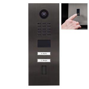 Doorbird Intercom D2102FV titanium - 2 beldrukkers - Ekey vingerscanner