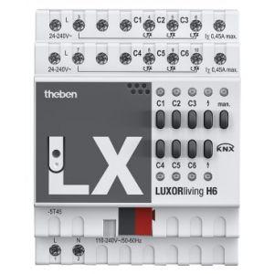 Theben LUXORliving H6 Verwarmingsactor 6 kanaals