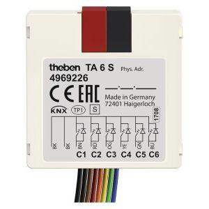 Theben TA 6 S KNX Impulsdrukker interface 6 kanaals binaire in- en uitgang inbouw