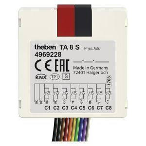 Theben TA 8 S KNX Impulsdrukker interface 8 kanaals binaire in- en uitgang inbouw