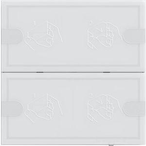 Gira KNX Tastsensor 4 tweevoudig wit