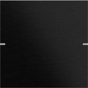Gira Wippenset tastsensor 4 enkelvoudig aluminium zwart