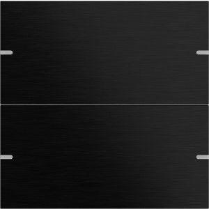 Gira Wippenset tastsensor 4 tweevoudig aluminium zwart