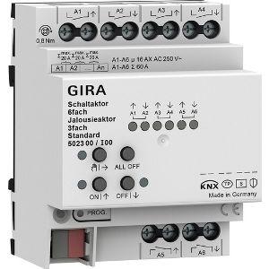 Gira KNX Schakel- / jaloezieactor 6- / 3-voudig 16 A - standaard