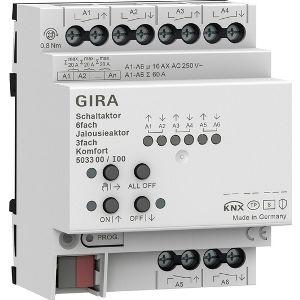 Gira KNX Schakel- / jaloezieactor 6- / 3-voudig 16 A - comfort