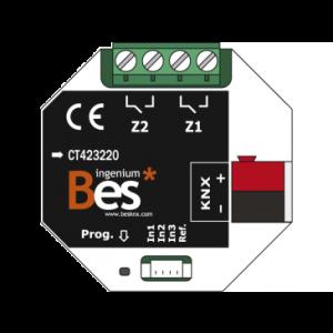 Ingenium Bes KNX combiactor 3x in / 2x uitgang 16Amp.