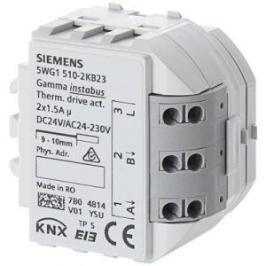 Siemens KNX Verwarmingsactor 2x 1,5 A 24 - 230 V AC / 24 V DC t.b.v. AP641 box RS510K23