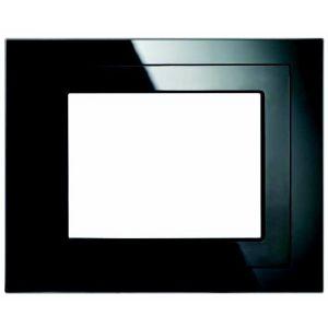 """Siemens Design afdekraam voor touchdisplay 5,7"""" - zwart glas"""